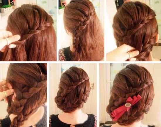 完成效果图:别上自己喜欢的蝴蝶结发饰,一款华丽唯美修颜编发盘发就完图片
