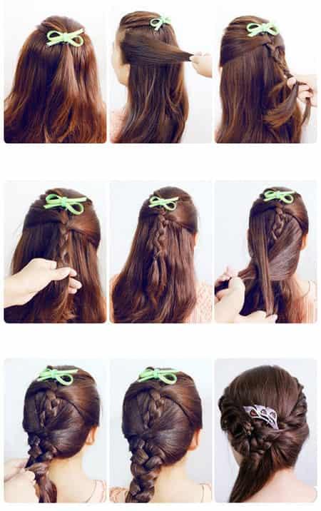 女生自己学做发型 韩式编发步骤全解图片