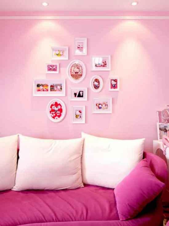 室内粉色梦幻主题装修设计效果图