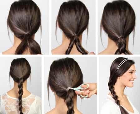 美容 美发 编发  步骤一:先把头发扎成一个低低的马尾辫,然后把马尾辫