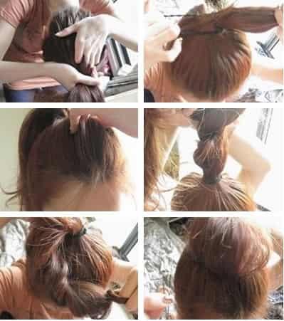 夏季中长发丸子头扎法 时尚可爱不沉闷