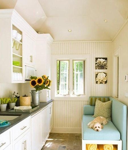 现代简约卡座设计厨房装修效果图 温馨又实用