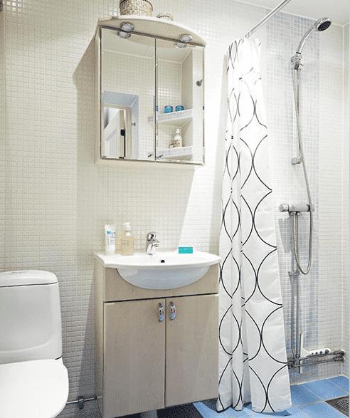 小户型浴室装修效果图 5㎡小浴室装修设计高清图片