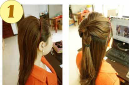 懒人扎头发 漂亮清爽马尾辫发型图片