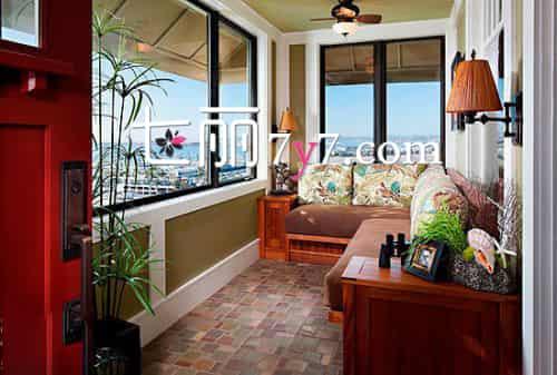 温馨室内阳台装修效果图 小空间创意变身休闲区