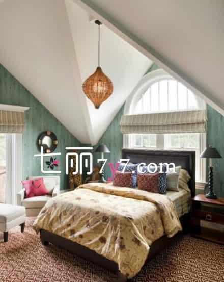 小阁楼卧室装修设计 独享天空的斜顶空间