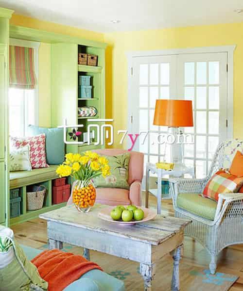 最美田园风格客厅装修设计 温馨与舒适兼具