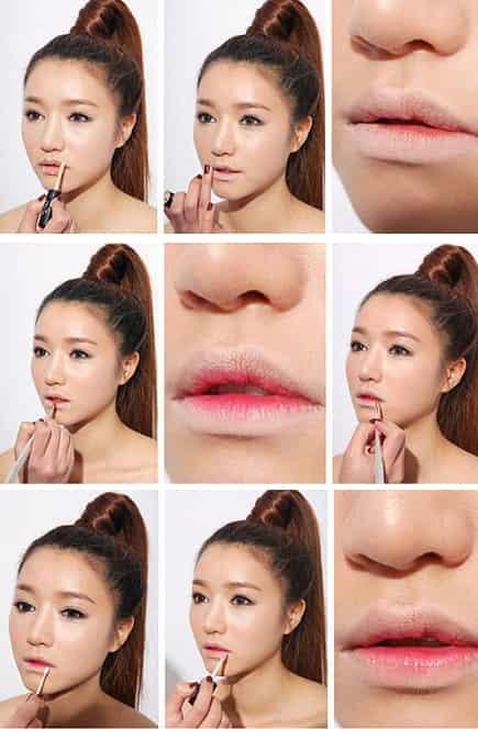 咬唇妆画法图解 美丽双唇画出来