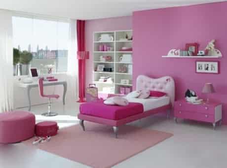 粉色系儿童卧室装修效果图 甜美公主范从家居开始