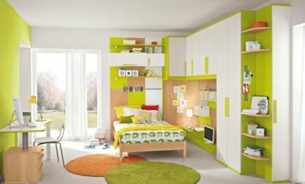 现代风格儿童房装修效果图 色彩缤纷卧室设计