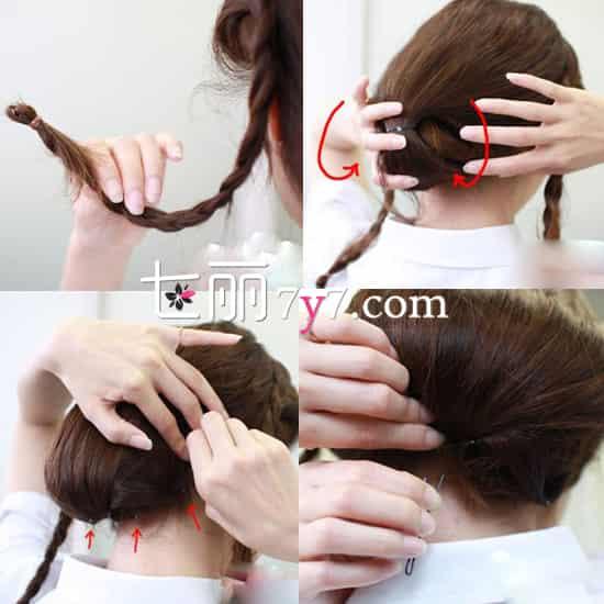 两步骤帮你忙 教你长发如何扎成短发图片