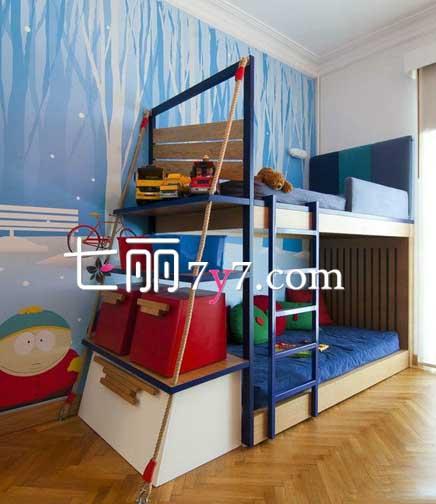 小戶型兒童房上下鋪設計 雙胞胎必備