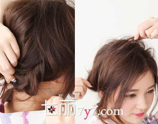 日系丸子头发型扎法图解 长发分分钟变清爽动人