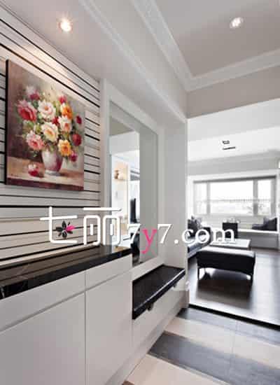 简欧鞋柜玄关装修效果图 好看省空间更实用高清图片