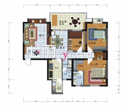 户型基本信息:实际面积123平方米,三居室。  初步定稿设计装修效果图   这次的设计偏向美式乡村风格,不能过于老气,整体的风格要走大气路线,需要将客厅的高墙打掉,但是一部分需要承重。电视墙一半水泥一半木栅镂空,给空间一个舒缓度。担任沙发后侧可以考虑加装玄关柜。 相关阅读: