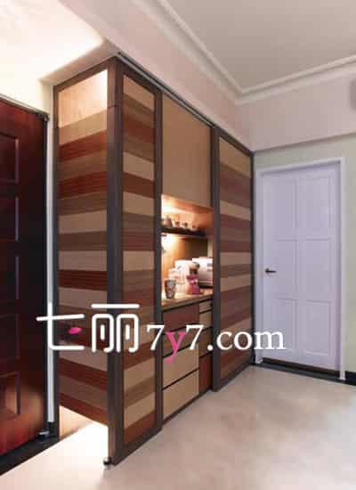 入口玄关柜子设计效果图 深沉木柜显尊贵