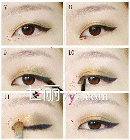 扩展阅读:怎么画猫眼妆单眼皮怎么画眼妆猫眼妆画法眼线画法韩式猫图片