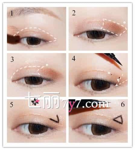 猫耳朵眼线怎么画 简约至上眼妆画法图片
