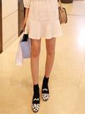 韩版连衣裙搭配女生平底鞋 超吸睛休闲style走起