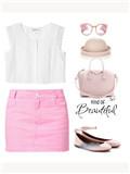 粉色裙子配什么颜色上衣 甜美少女搭配攻略