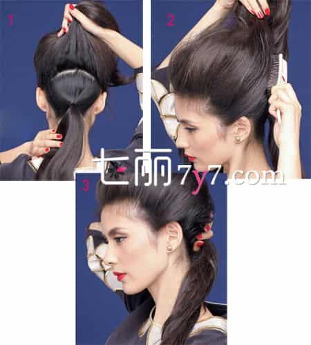 女生后脑勺扁平的发型 蓬松低马尾扎法弥补缺陷