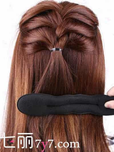 韩式麻花辫盘发技巧 简单几步让你长发变短发