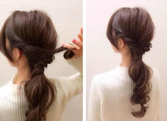长头发简单漂亮扎法,长发怎么扎简单好看,长发简单扎图片