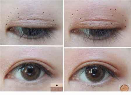 棕色眼影的画法图解,棕色眼影怎么画好看