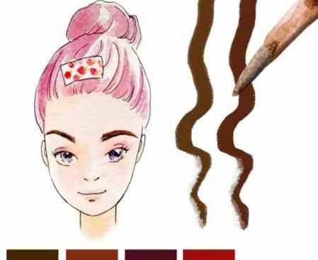 手绘眉毛的画法,手绘眉毛铅笔画教程