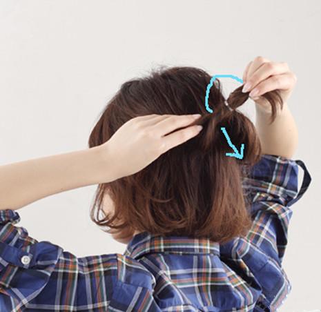 中短卷发怎么扎好看,中短卷发怎样扎好看,短卷发如何图片