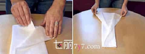 尿布的叠法图解,长方形尿布怎么叠