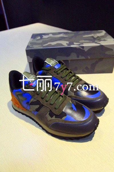 VALENTINO全牛皮迷彩运动鞋-2015鞋子流行趋势,鞋子流行元素,鞋