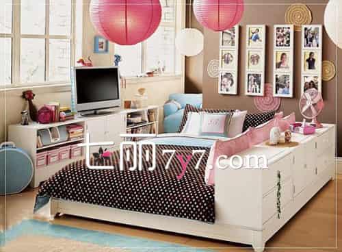 小户型卧室装修效果图 清新设计温馨且实用