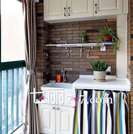 生活小阳台装修效果图 不仅仅是晾衣服那样简单