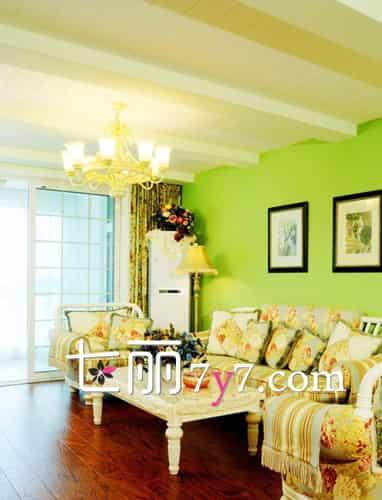 韩式田园客厅风格装修效果图 优雅不失清新的家居氛围