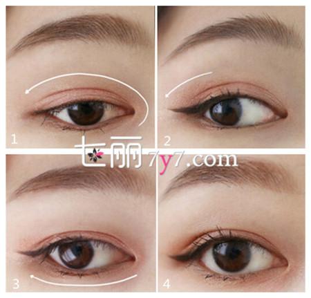 韩式眼妆的画法步骤图 轻松化身韩剧女主角
