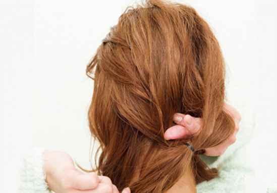 韩式盘发图解100种,韩式盘发步骤图解,韩式盘头发简单