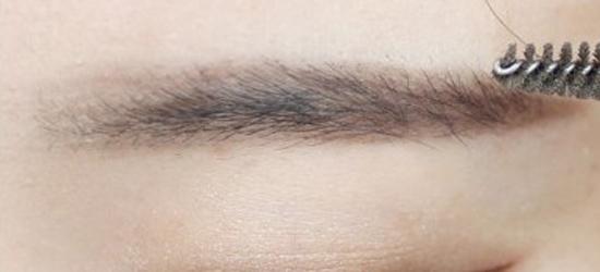 怎么 眉毛/步骤四:之后用眉粉混合中间色和最深色,从中间部分往后刷。