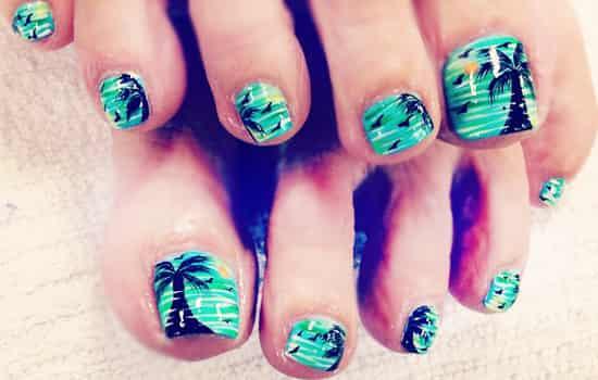 美甲图片2015款式夏季脚指甲