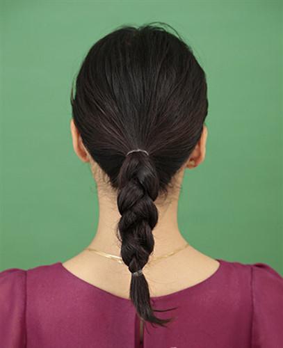 中年盘发教程图解,女士盘发步骤图片,中年盘发发型图片