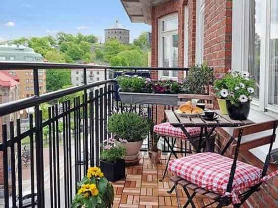 阳台花园实景图片大全,阳台花园设计实景图,唯美阳台
