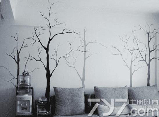 沙发背景墙效果图欧式