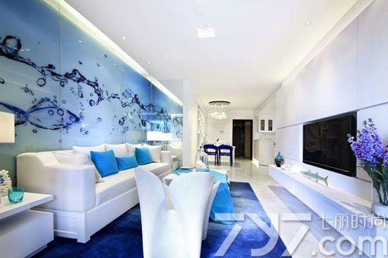 欧式蓝色调海洋装修效果图