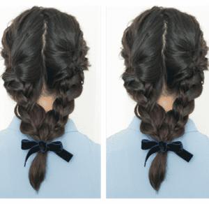 怎么编出好看的头发图解 三步编发打造二次元美少女