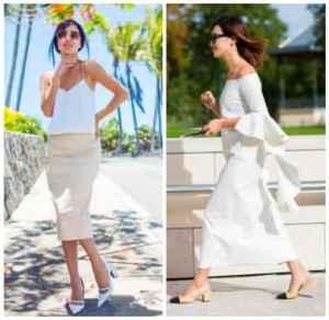 白色长裙配什么鞋好看? 街拍红人教你穿出优雅气质