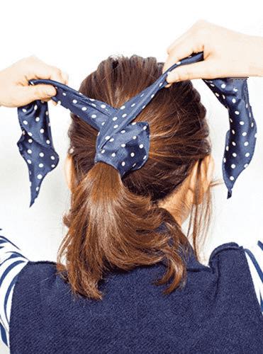 发带的系法图解,发带怎么带好看马尾,发带的戴法