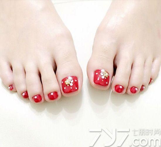 脚趾甲美甲图片简单,简单脚指甲图片大全,简单脚趾美甲图片