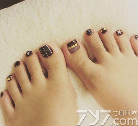 脚美甲图片2016款式洋,脚指甲美甲图片2016款图片,脚趾甲美甲图