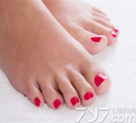 脚美甲图片纯色,脚趾甲美甲图片纯色