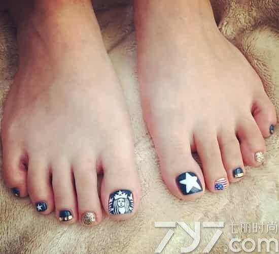 韩国脚指甲美甲图片,韩国脚趾甲美甲图片,韩国脚美甲图片